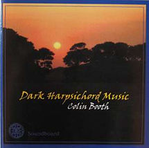 Dark Harpsichord Music Colin Booth. Evening sunset with dark background