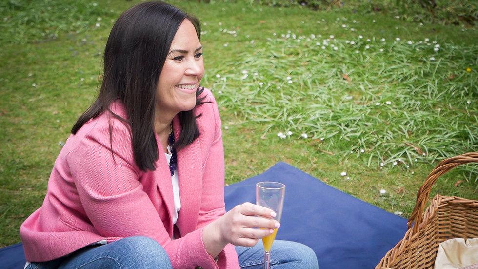 Jenny McDonald Sitting on floor