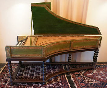 17th century harpsichord by Celini, restoration process complete