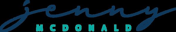 Jenny McDonald Logo Blue Green