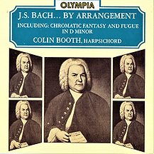 J.S. Bach By arrangement cover photo showing Bach