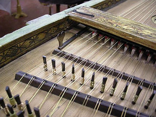 celini harpsichord cleaned above the wrest plank