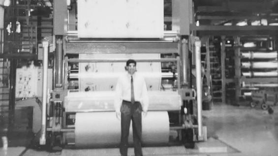 Donald at Printing Press