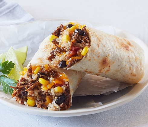 Adobo Shredded Chicken Burrito