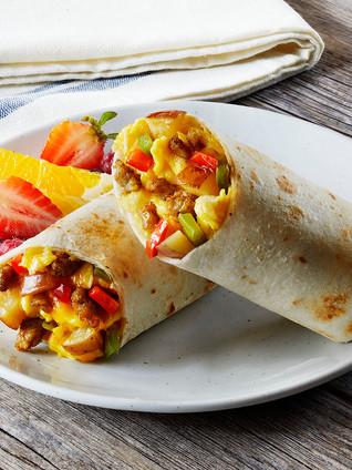 Pork Sausage & American Cheese Breakfast Burrito