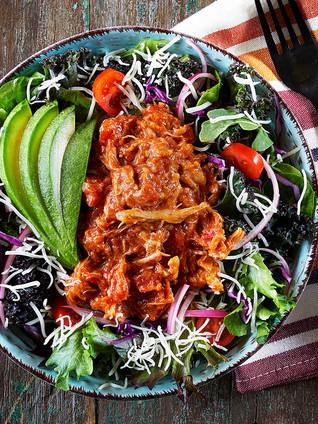 Shredded Chicken Mixed Greens Salad
