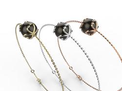 Bracelet or perle agate noire 330 €