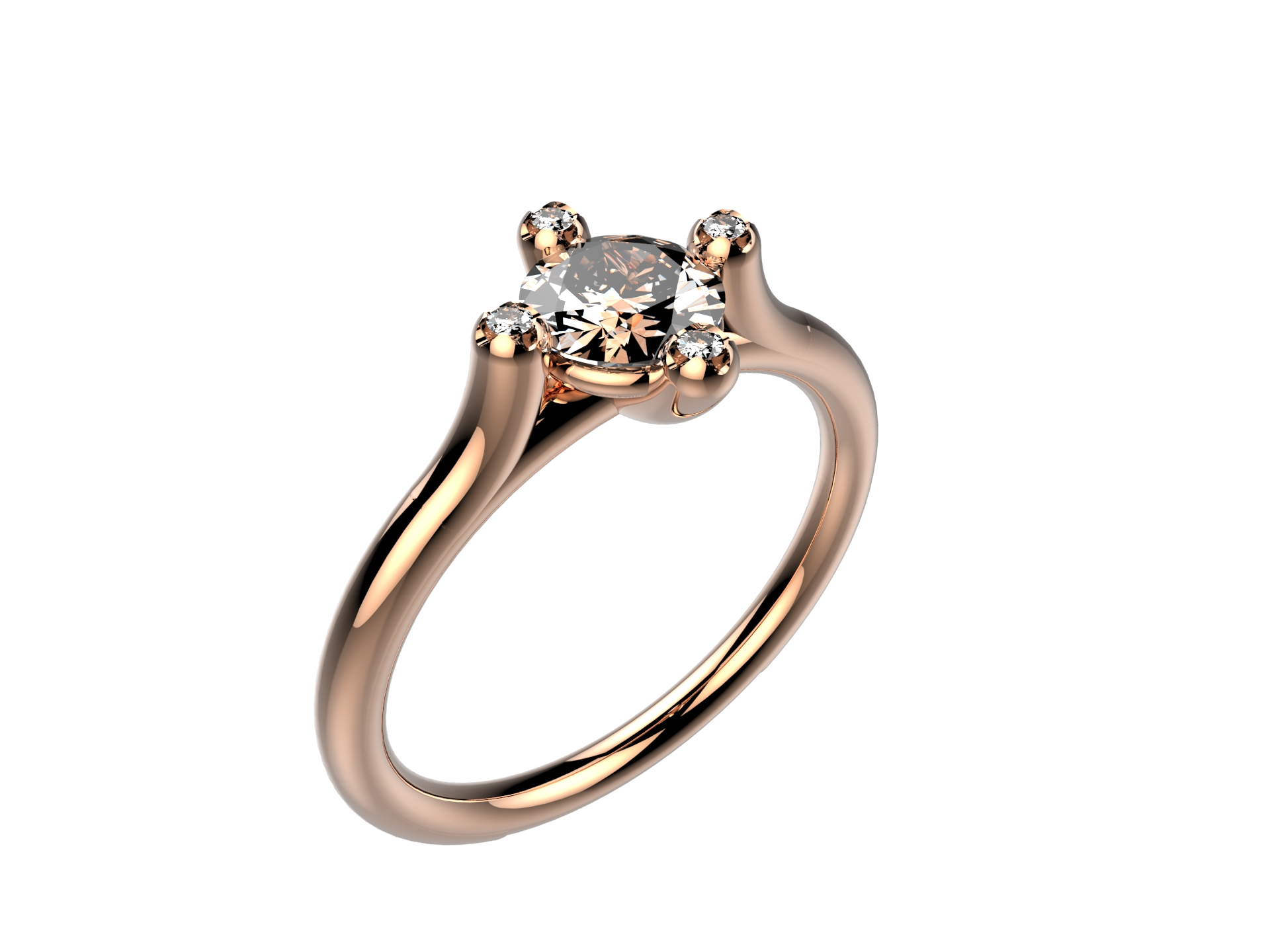Solitaire or rose diamants - 3910 €