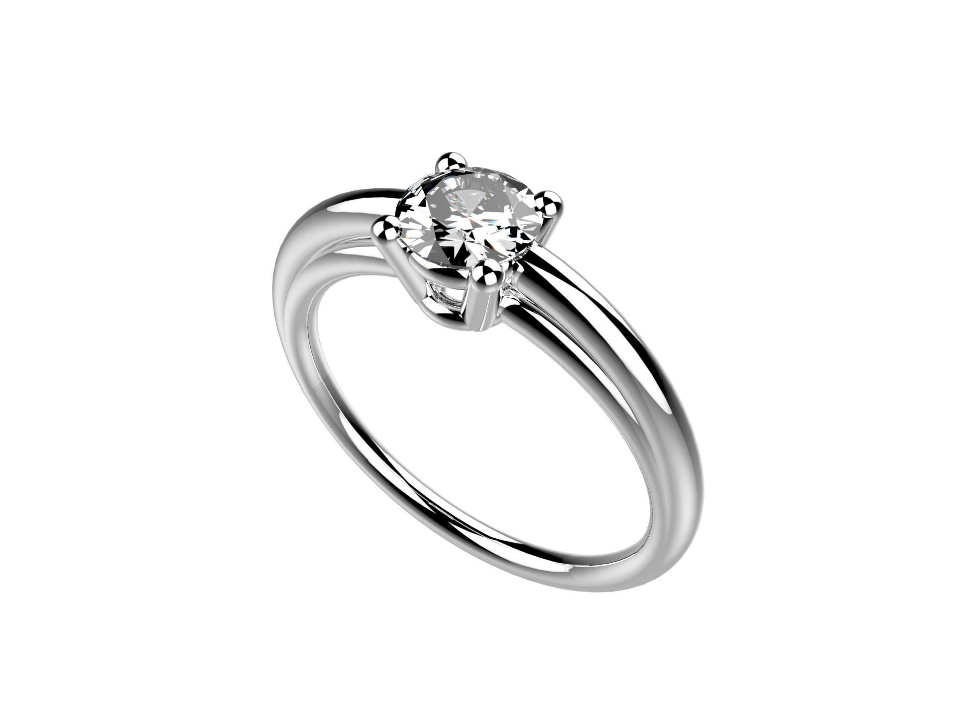 Solitaire or blanc diamant - 3650 €