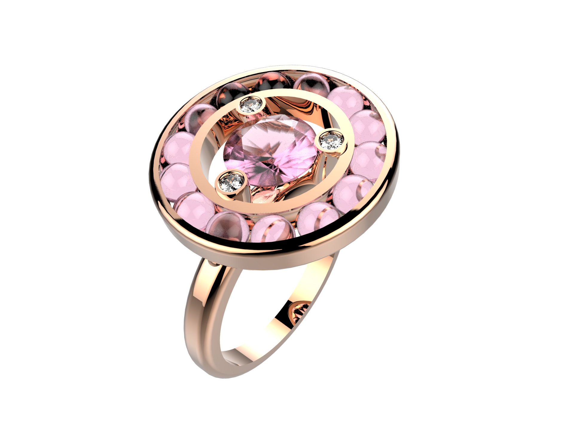 Bague Moov Billes or rose qz 2550 €