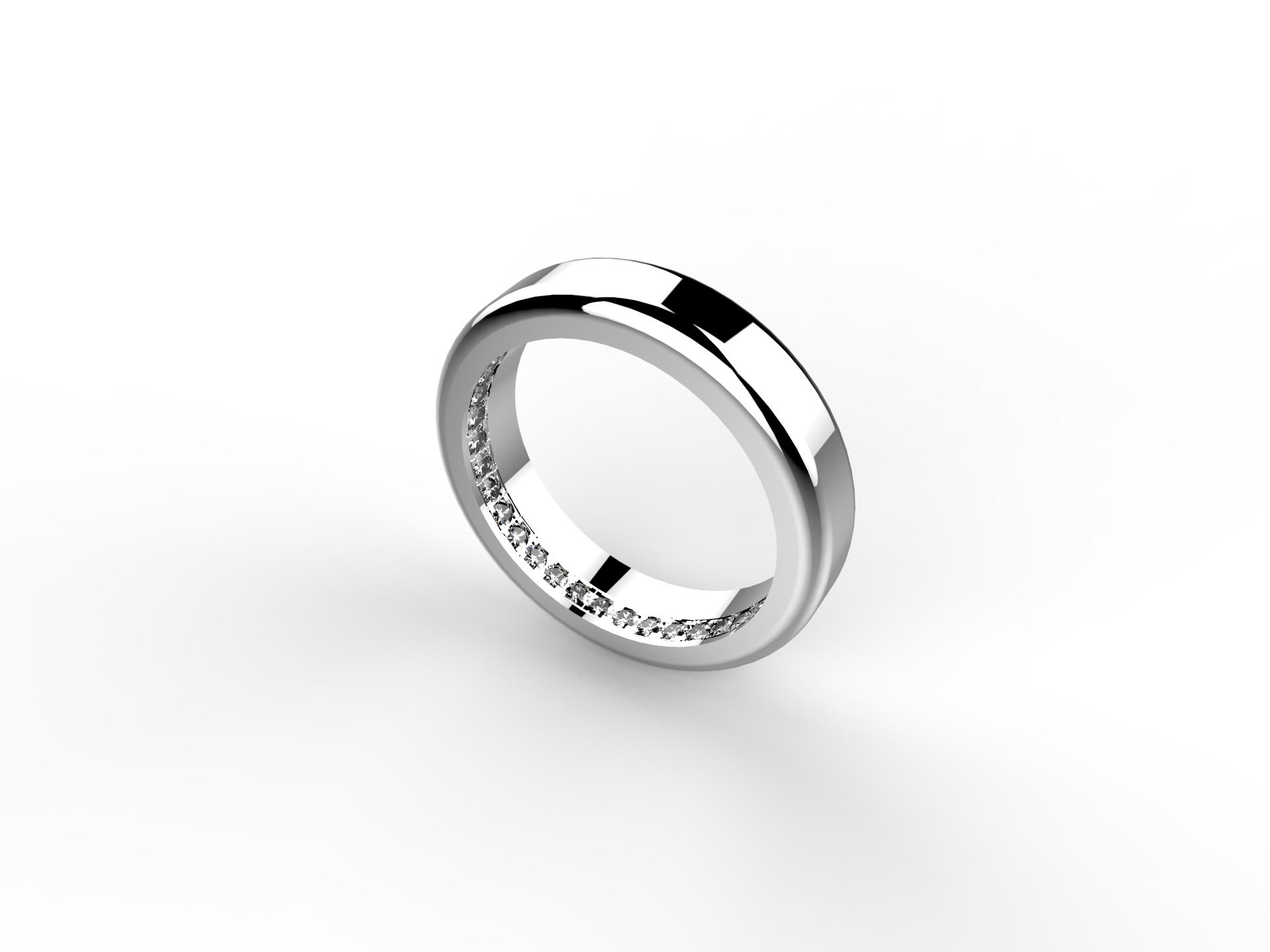 Alliance or blanc diamants 1650 €