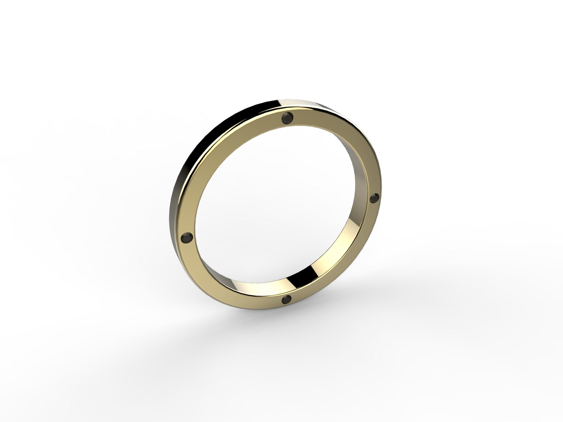 Alliance or jaune diamants - 830 €
