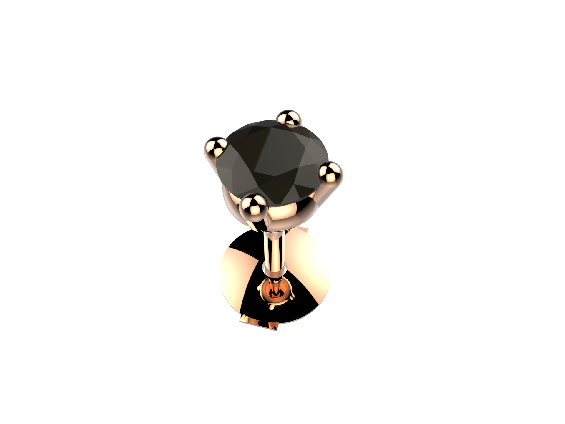 Boucle d'oreille diam noir 740 €