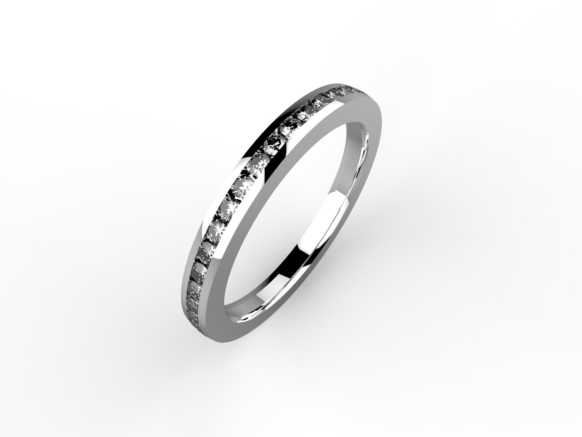 Alliance or blanc et diamants 1690 €