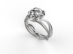 Solitaire or blanc diamant - 9120 €