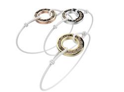 Bracelet or cordon quartz fumé 490 €