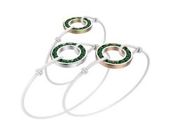 Bracelet or cordon agate verte 490 €