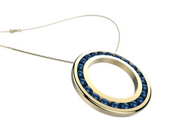 Pendentif or agate bleue 2250 €
