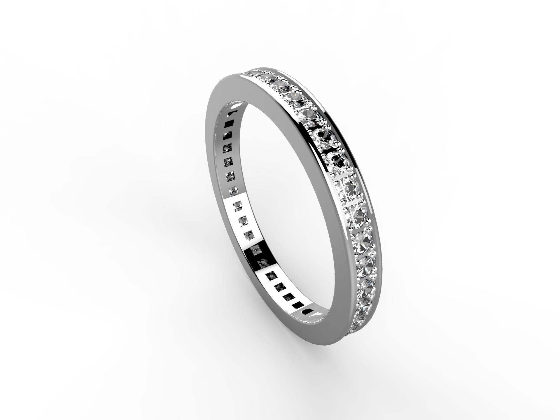 Alliance or blanc et diamants 1800 €