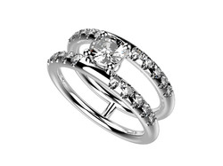Solitaire or blanc diamant - 5170 €