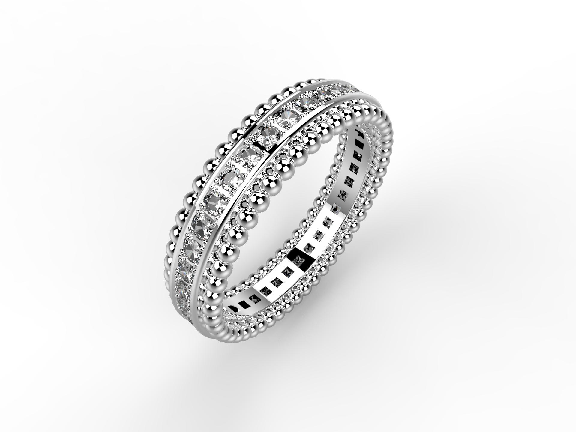 Alliance or blanc et diamants 2140 €