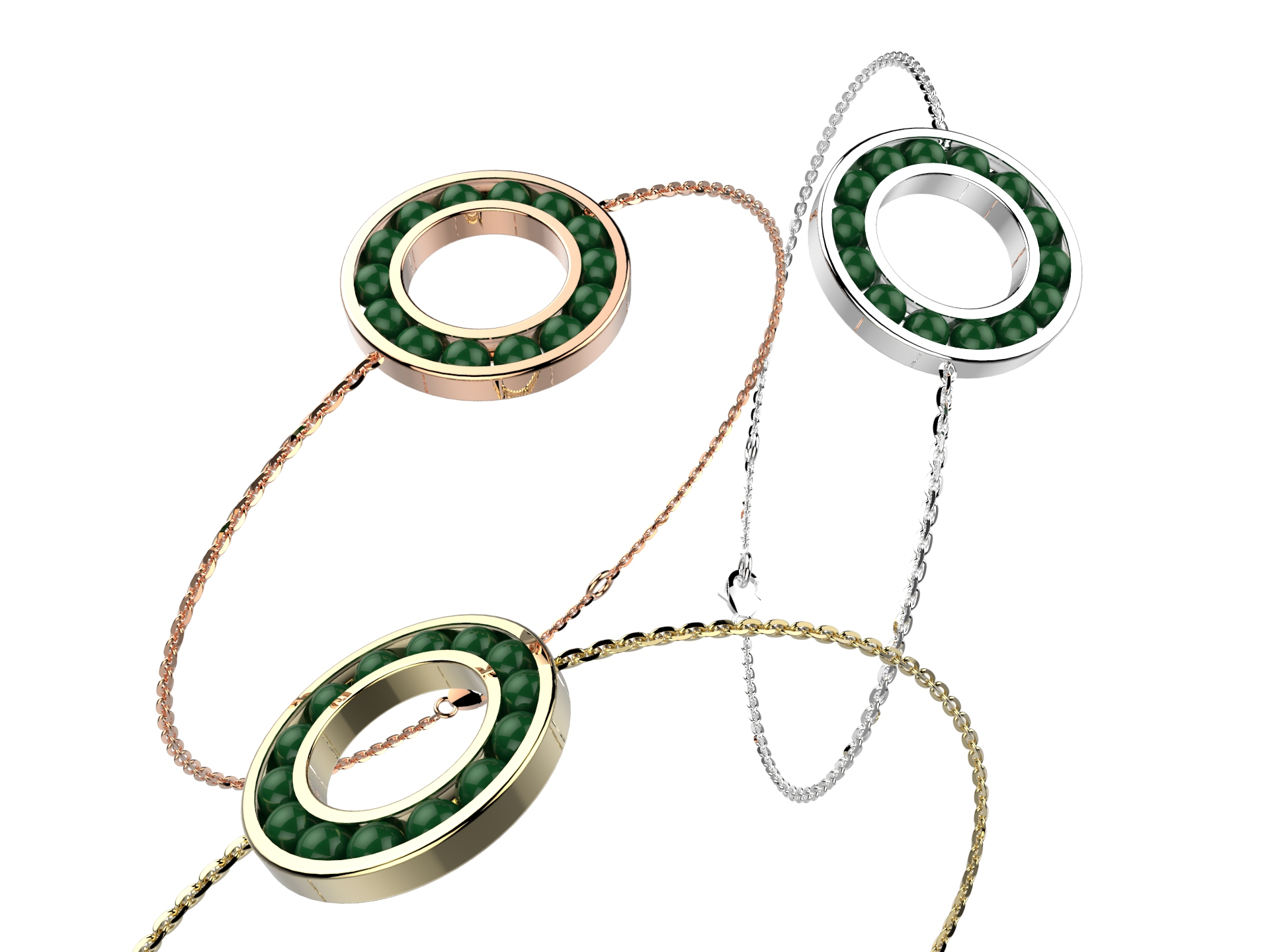 Bracelet chaine or agate verte 720 €