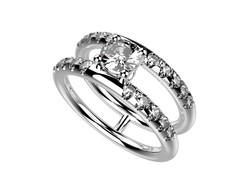 Solitaire or blanc diamant - 5170 €