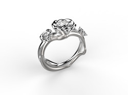 Solitaire or blanc diamant - 9840 €
