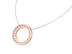 Pendentif or quartz rose 2250 €