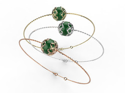Bracelet or perle agate verte 340 €