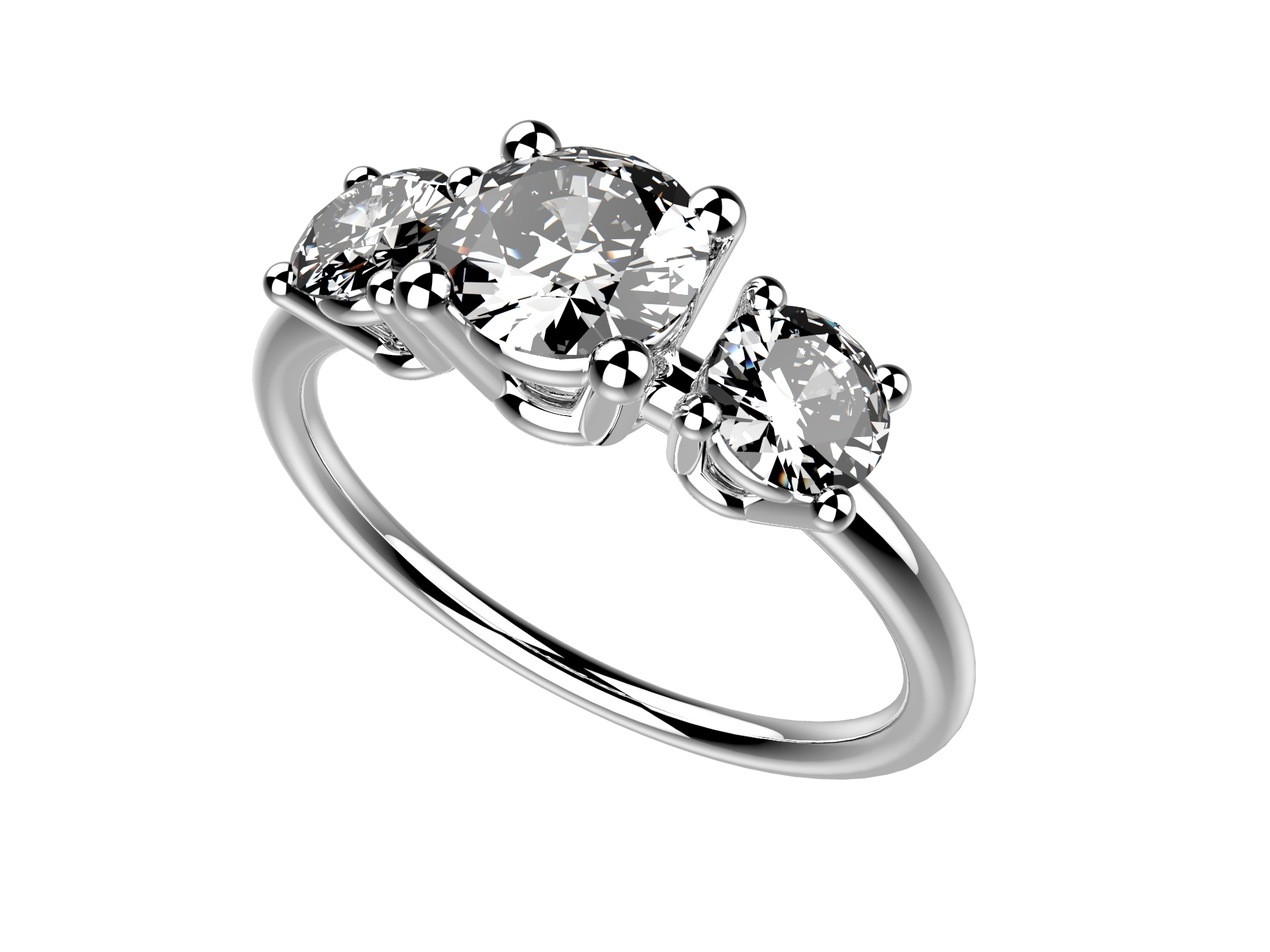 Solitaire or blanc diamants - 4780 €