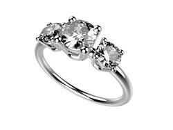 Solitaire or blanc diamants - 4780 €