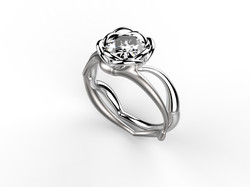 Solitaire or blanc diamant - 9120 €