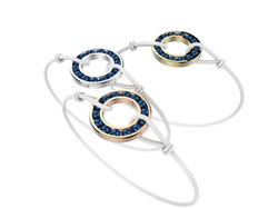 Bracelet or cordon agate bleue 490 €