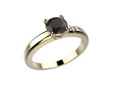 Bague or jaune diamant noir 1840 €