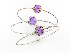 Bracelet or perle améthyste 340 €