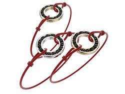Bracelet or cordon agate noire 490 €
