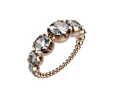 Solitaire or rose diamants - 8110 €