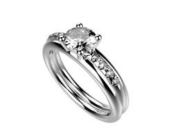 Solitaire or blanc diamant - 3740 €