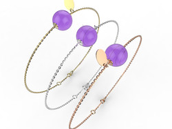 Bracelet or perle améthyste 305 €