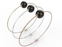Bracelet or perle agate noire280 €