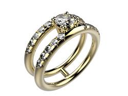 Solitaire or jaune diamant - 5170 €