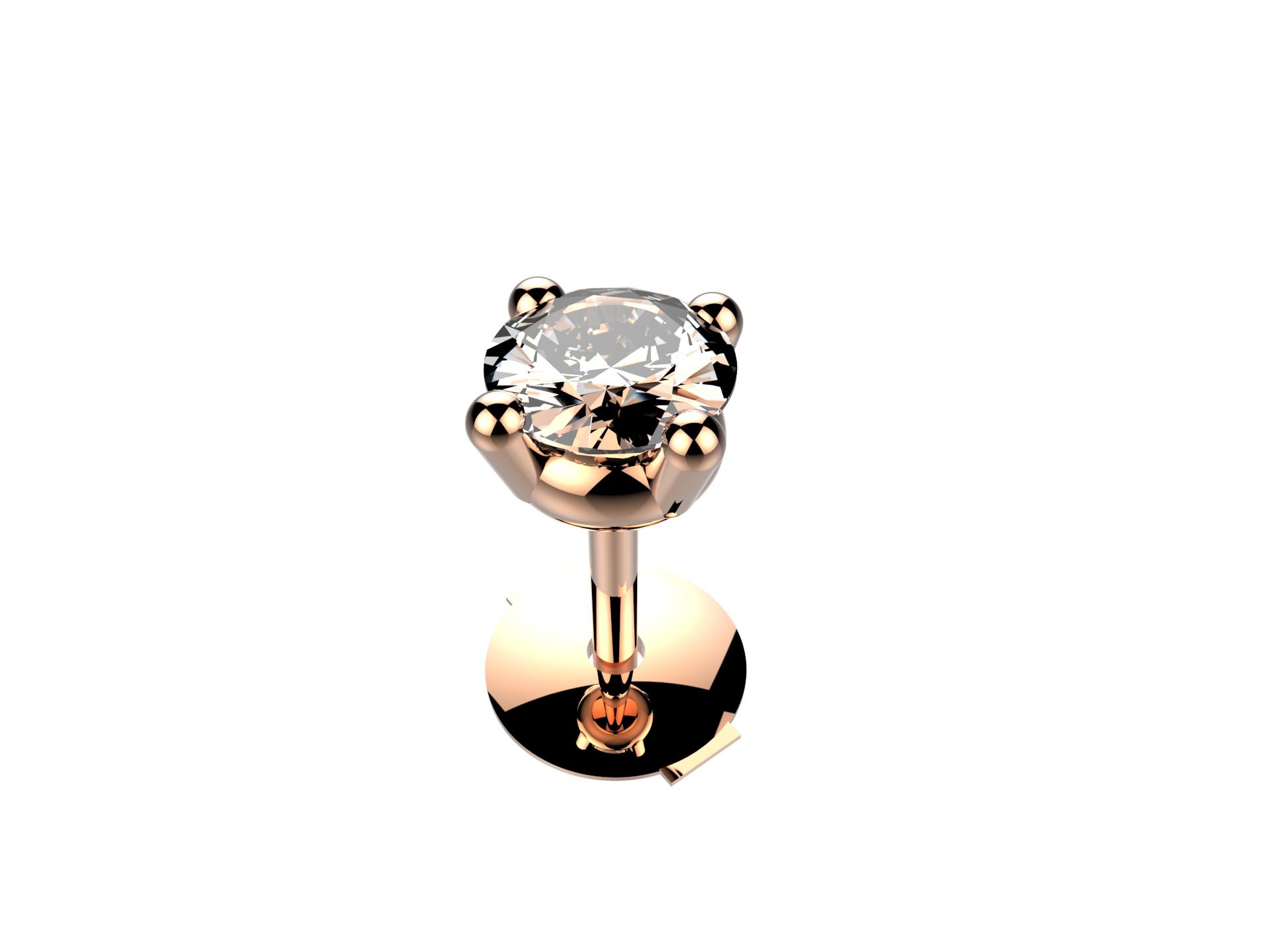 Boucle d'oreille diamant 1200 €