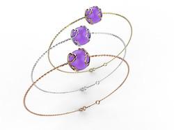 Bracelet or perle améthyste 330 €