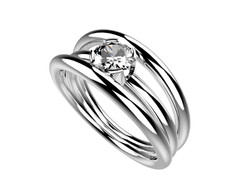 Solitaire or blanc diamant - 3990 €