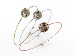Bracelet or perle quartz fumé 340 €