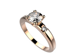 Solitaire or rose diamant - 3430 €
