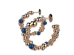 BO or Bulles agate bleue 1850 €
