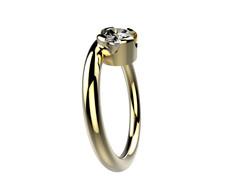 Solitaire or jaune diamant - 3860 €