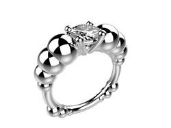 Solitaire or blanc diamant - 11620 €